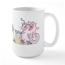 "World of Whimsy Mug""Tea Party"" Dragon"