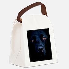blacklab orn oval Canvas Lunch Bag
