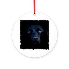 blacklab shirt Round Ornament