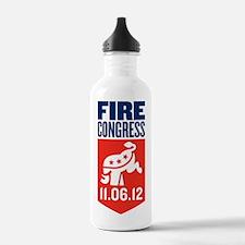 Fire Congress Tall Log Water Bottle
