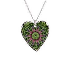 flower62 Necklace Heart Charm