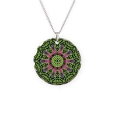 flower62 Necklace Circle Charm