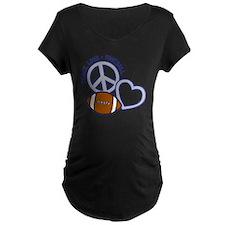 silver blue, Peace, Love, F T-Shirt