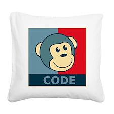 CodeMonkeyBanner2 Square Canvas Pillow