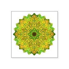 "Green Gold Heart Chakra Man Square Sticker 3"" x 3"""