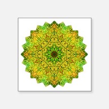 "Green Gold Heart Chakra Man Square Sticker 3"" x 3"""