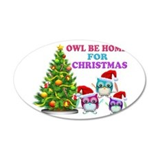 Owl Be Home For Christmas Wall Decal