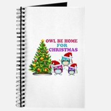 Owl Be Home For Christmas Journal