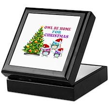 Owl Be Home For Christmas Keepsake Box