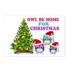 Owl Be Home For Christmas Postcards (Package of 8)