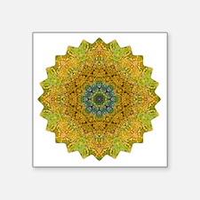 "Green Heart Chakra Yoga Man Square Sticker 3"" x 3"""
