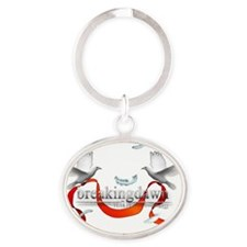 Twilight Breakingdawn White Doves 3  Oval Keychain