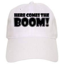 Here Comes the Boom (white) Baseball Cap