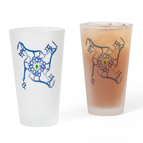 Parallel_telomere_quadruple Drinking Glass