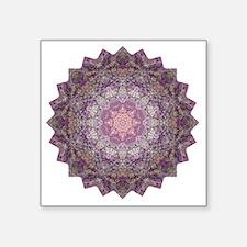 "Purple Star Mandala Yoga Sh Square Sticker 3"" x 3"""