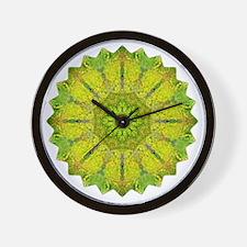 Gold Green Heart Chakra Mandala Yoga Sh Wall Clock