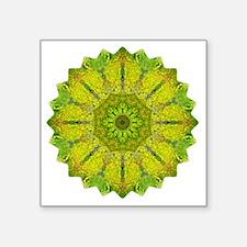"Gold Green Heart Chakra Man Square Sticker 3"" x 3"""