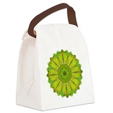 Gold Green Heart Chakra Mandala Y Canvas Lunch Bag