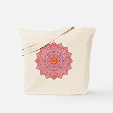 Pink Flower Yoga Mandala Shirt Tote Bag