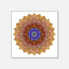 "Blue Red Yoga Mandala Shirt Square Sticker 3"" x 3"""
