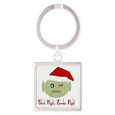 Zombie Night Square Keychain
