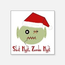 "Zombie Night Square Sticker 3"" x 3"""