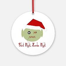 Zombie Night Round Ornament