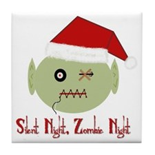 Zombie Night Tile Coaster