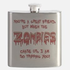 When Zombies Chase Us Flask