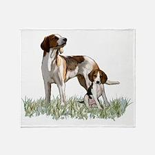 walker coonhounds Throw Blanket