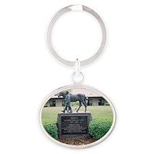 Nashua_grave Oval Keychain