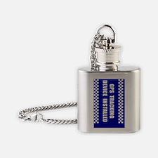 GPSKey_blue Flask Necklace
