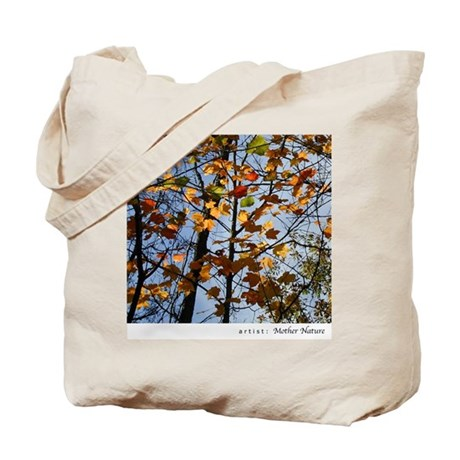 Stained Glass Branches Tote Bag