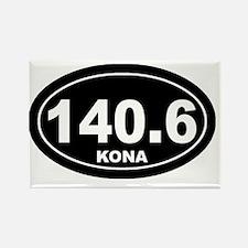 140_kona_blk Rectangle Magnet