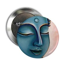 "Blue Goddess of Compassion 2.25"" Button"