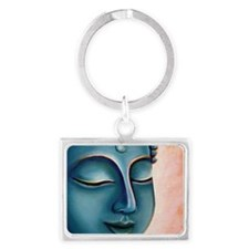 Blue Goddess of Compassion Landscape Keychain