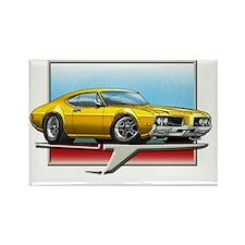 1969 Gold Cutlass Rectangle Magnet