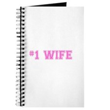 #1 Wife pink Journal