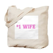 #1 Wife pink Tote Bag