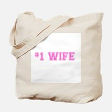 #1 Wife pink Tote Bag