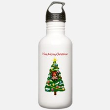 I Say Merry Xmas Water Bottle
