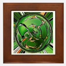 Chinese Dragon Framed Tile