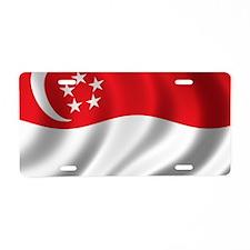 singapore_flag Aluminum License Plate