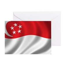 singapore_flag Greeting Card