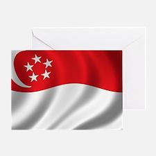 singapore_flag Greeting Card