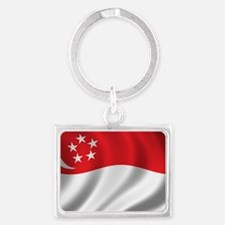singapore_flag Landscape Keychain