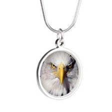 acrghat Silver Round Necklace