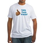 Thumb Wrestle Fitted T-Shirt