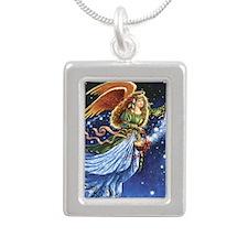 Angel Star Basket_Tile Silver Portrait Necklace