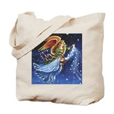 Angel Star Basket_Tile Tote Bag